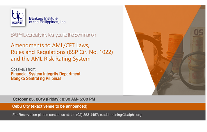 Amendments to AML/CFT Laws, Rules and Regulations (BSP Cir